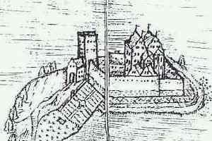 Schloss, Zeichnung 1685