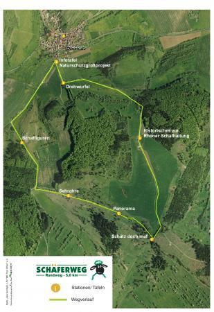 Schäferweg Karte