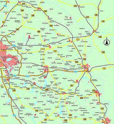 Karte_Tourismusinformationsstellen - ©HWN Werbung