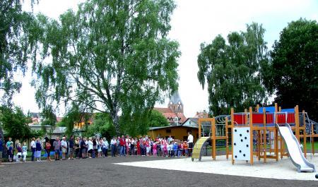 Einweihung des Spielplatzes beim Hafen am 30.7.2010
