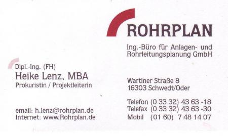 Sponsor Rohrplan