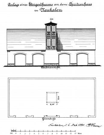 Zeichnung Spritzenhaus 1890