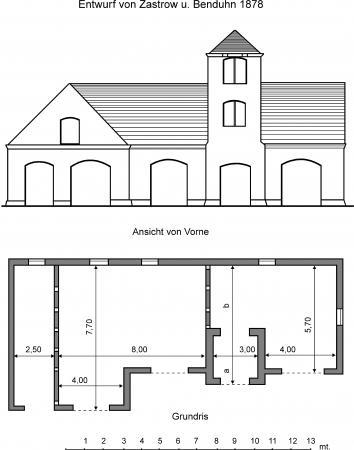 Zeichnung Spritzenhaus 1878