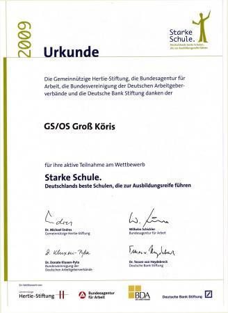 Urkunde_Starke Schule