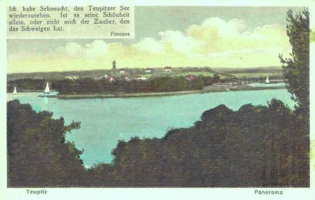 Seepanorama,  Postkarte 1926