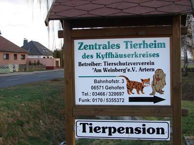 tierheim Schild