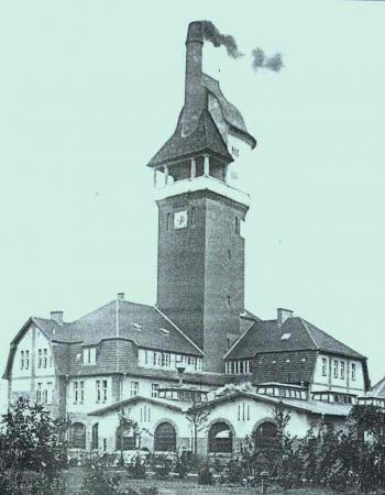 Wasserturm der Landesklinik, Foto 1908