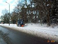 Winterdienstfahrzeug im Einsatz