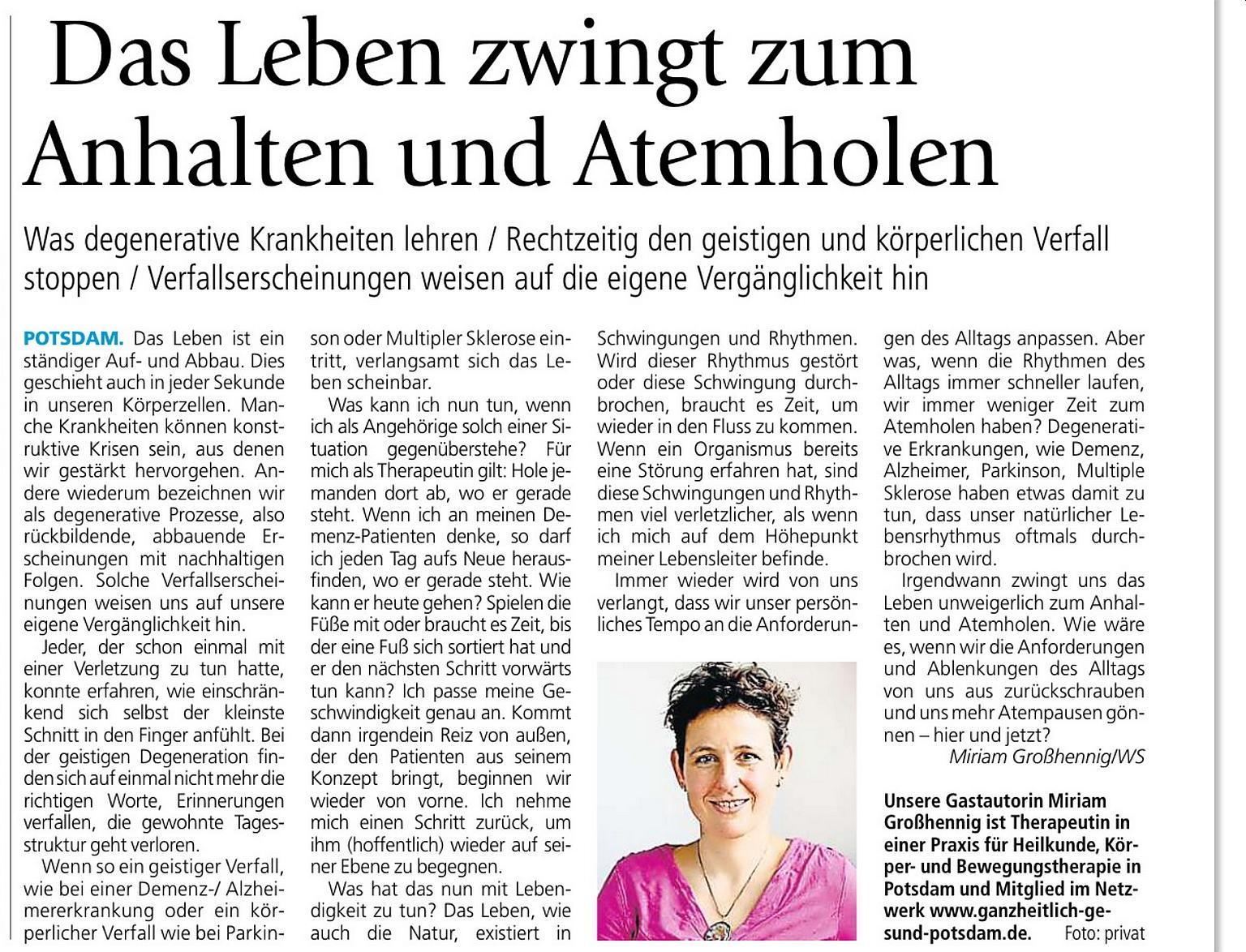 Wochenspiegel Miriam Großhennig