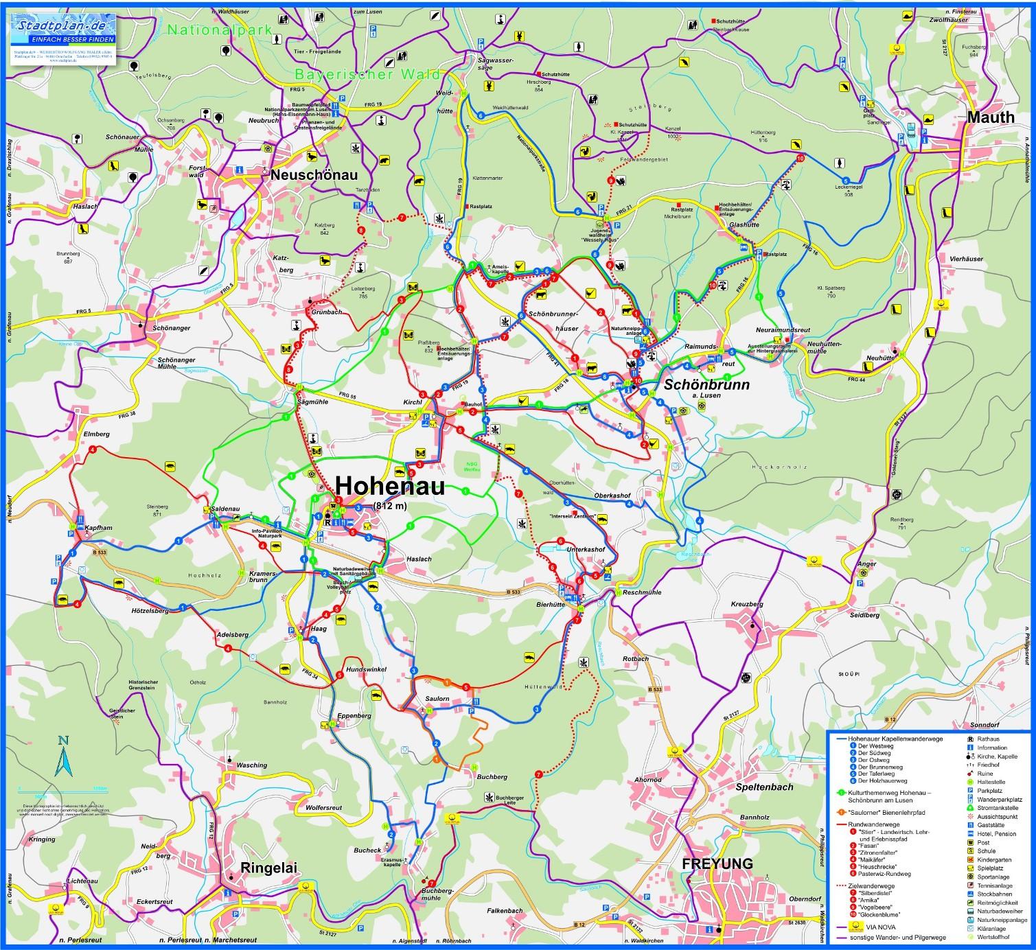 Bayerischer Wald Karte Kostenlos.Gemeinde Hohenau Wandern
