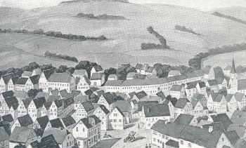 Schwarz-Weiß Bild Illlingen