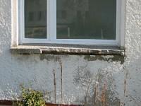 korrodierte Fensterbank