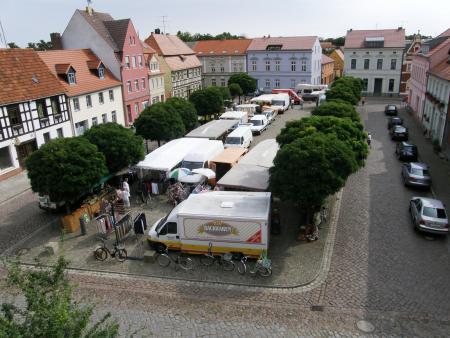 Töpfermarkt von oben