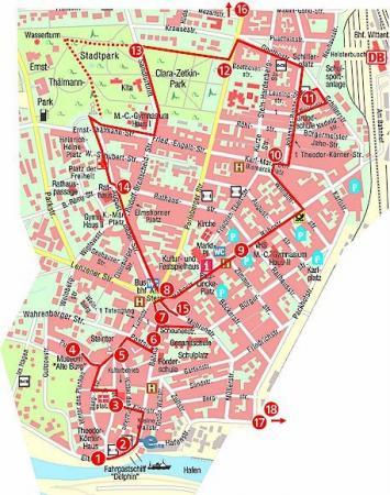 Karte Wittenberge