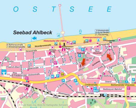 Karte Ahlbeck