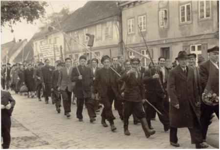 Anglerumzug Volksangeltag 1954