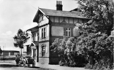Ansichtskarte Bahnhof 1957