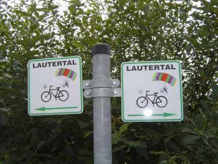 Beschilderung Lautertal-Radweg