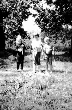 Holger beim Aalangeln 1975