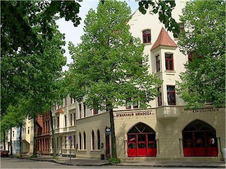 Sanierte Häuserzeilen im Heisterbusch-Viertel