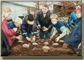 Bepflanzung zum Umwelttag 2002 mit...
