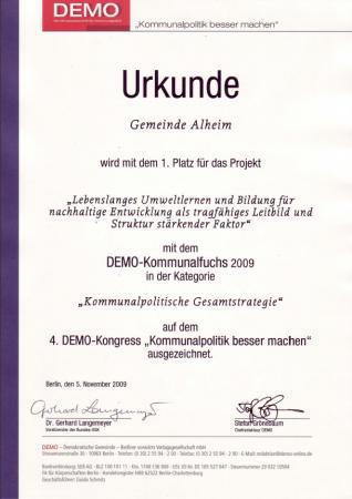 Fuchs Urkunde