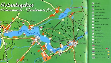 Übersichtskarte Hohennauener-Ferchesarer See