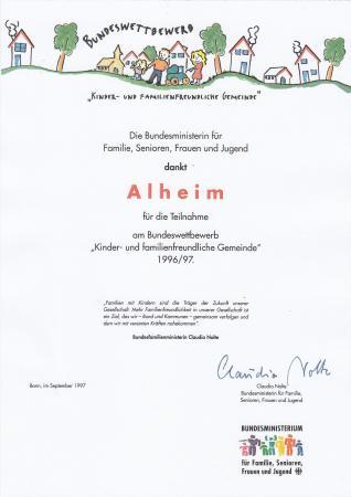 Familienfreundliche Kommune 1997