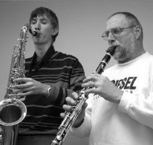 Klarinette, Querflöte und Saxofon
