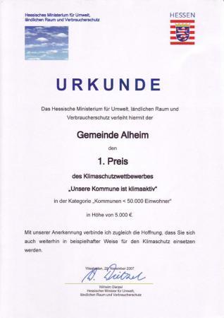 Klimaschutzwettbewerb 2007