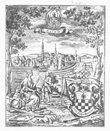 Kupferstich Calau um 1760
