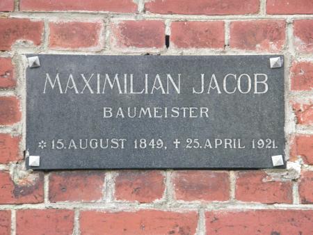 Grabtafel Max Jacob