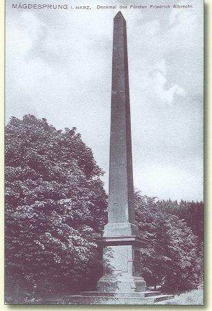Obelisk, Alte Postkarte