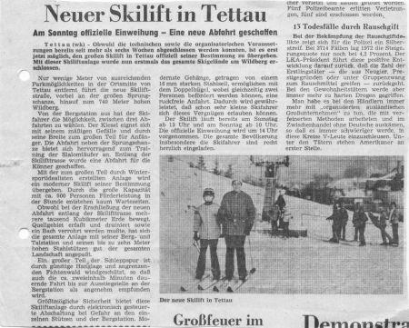 Neuer Skilift in Tettau