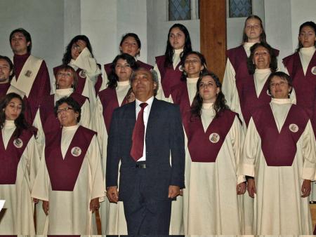 Kammerchor der Universidad Austral de Chile in der Calauer Stadtkirche