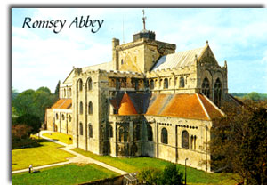 Postkarte Romsey Abbey