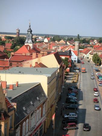 Blick vom Rathausturm nach Westen