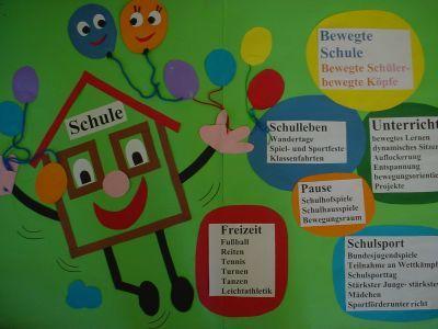 Plakat bewegte Schule