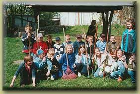 Projekttag im Schulgarten